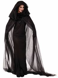 inexpensive women s halloween costumes women u0027s black haunted cape and dress costume cheap new for 2014