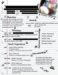 World Best Resume by Dissecting The Good And Bad Resume In A Creative Field Emily