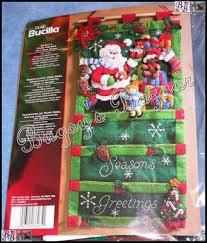 bucilla kits santa s card holder wall hanging felt applique kit bucilla 86265