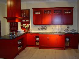 Antique Red Kitchen Cabinets by Creative Kitchen Designs Homes Zone