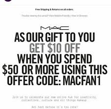 cosmetics promo code mac