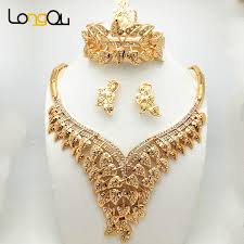 necklace bracelet earring ring images African beads jewelry sets style wedding accessories fine crystal jpg