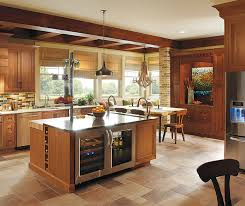 Cinnamon Shaker Kitchen Cabinets by Rustic Kitchen With Cherry Wood Cabinets Omega