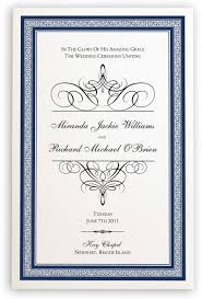 church wedding programs christian and catholic wedding program templates and program