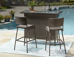 Patio Bar Tables Outdoor Bar Furniture The Home Depot