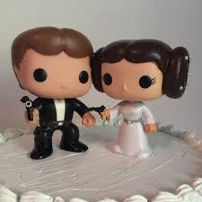 wars wedding cake topper han and princess leia funko pop wedding cake topper bobble