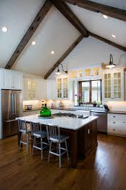cathedral ceiling kitchen lighting ideas 13 ways to add ceiling beams to any room town country living