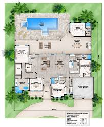 house plans with pool one level modern house plans picture home with pool ultra levelone