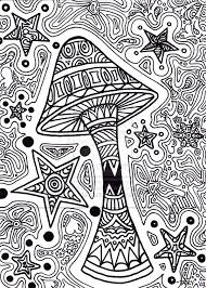 trippy coloring pages mushroom stars coloringstar