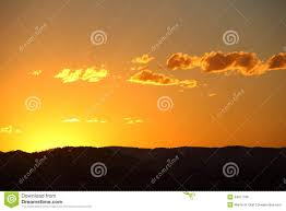 Sunset Orange by Orange Sky Countryside Sunset Royalty Free Stock Image Image