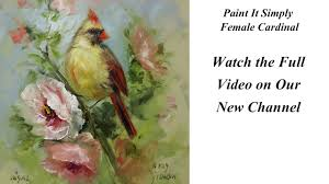 fine art of decorative painting female cardinal paint it simply