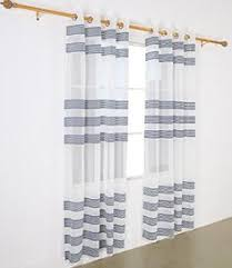 Kitchen Sheer Curtains by Belgian Linen Bottom Border Sheer Drape 50x108