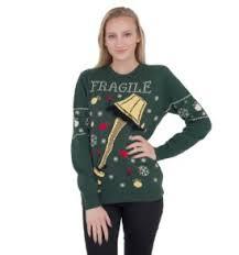 Ugly Christmas Sweater With Lights A Christmas Story Fragile Leg Lamp Light Up Led Lighting