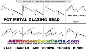 Peachtree Doors And Windows Parts by Metal Glazing Bead Aluminum Steel Window U0026 Door Glazing Bead