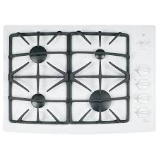 Ge 30 Inch Gas Cooktop Shop Ge Profile 4 Burner Gas Cooktop White Common 30 In