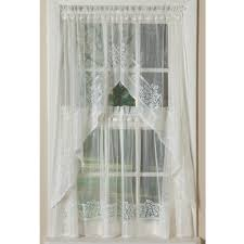 hydrangea border lace country style curtains in multiple lengths