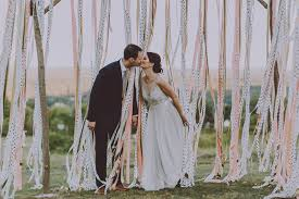 wedding backdrop alternatives decorating with ribbon use flagging instead