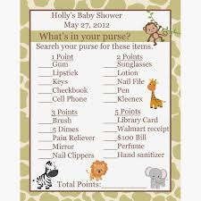 baby animals answers baby shower price is right game cards zoo