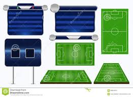 broadcast graphics for sport program soccer match template stock
