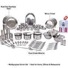 buy kitchen 81 pcs stainless steel dinner set free knife