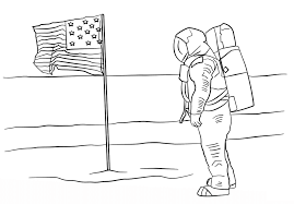 astronaut coloring pages with usa flag coloringstar