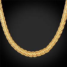 golden necklace men images Gold chain for men jewelry 18k gold rose gold platinum plated 2 jpg