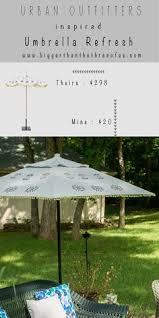 Paint Patio Umbrella Great Idea To Use Fabric Paint On A Faded But Umbrella