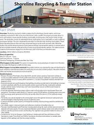 seattle city light transfer shoreline recycling transfer station king county solid waste