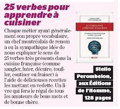 verbe de cuisine livre 25 verbes pour apprendre à cuisiner et autant de recettes