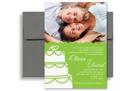 personalized wedding invitations green white photos personalized wedding invitation 5x7 in