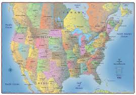 map for usa and canada map of northern united states and canada major tourist