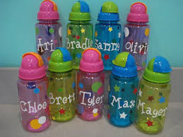 personalized party favors kids water bottles with straws personalized for free great for