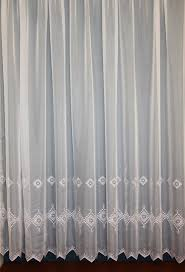 Shabby Chic Voile Curtains by Voile Embroidered Curtain Panel Curtain Design