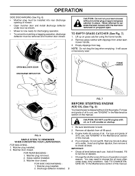 operation before starting engine husqvarna 6522sl user manual
