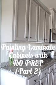 How To Paint Laminate Kitchen Cabinets by Painting Laminate Cabinets With No Prep Work Part 2