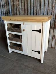 long rustic wooden solid pine freestanding open kitchen centre
