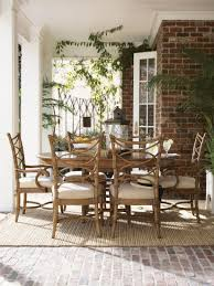 coastal dining room sets beach house table carving wood back