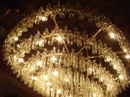 Handmade Chandelier by Furniture Great Looking Clear Glass Wine Bottle Chandelier With