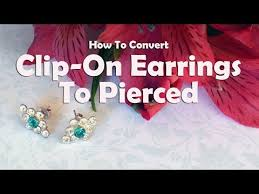 how to convert clip on earrings to pierced earrings diy jewelry repair how to convert clip on earrings to pierced