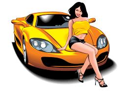 beautiful and sports car 01 vector free vector 4vector