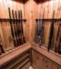 Built In Gun Cabinet Plans Custom Gun Room Made From Reclaimed Wood Pikeroadmillwork Com