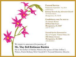 Funeral Service Invitation 28 Funeral Service Invitation Elegant Grey Marble Memorial