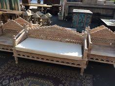 Whitewash Bench Balinese Teak Bench Colorful Carving 73