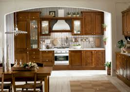 kitchen inspiration for bringing cozinesss and homey wall fascinating simple small retro kitchen decoration in stained solid wood with cream tile flooring brown