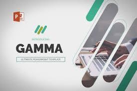 gamma powerpoint template presentation templates creative market
