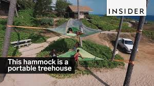 this hammock tent is basically a portable treehouse youtube