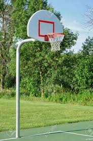 outdoor basketball hoop stock photo picture and royalty free