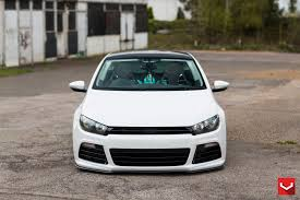 white volkswagen white volkswagen scirocco goes low with the lowering kit u2014 carid