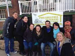 some of our staff was out volunteering at the philadelphia