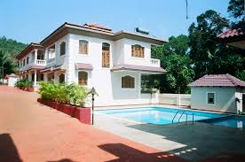 villa bunglow on rent in goa with kitchen swimming pool